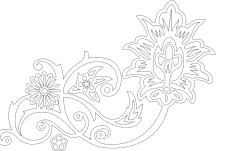 Floral dxf file
