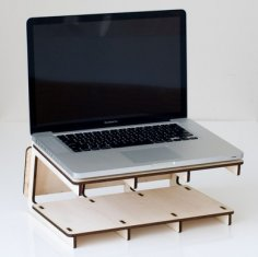 Laser Cut Laptop Stand Free Vector