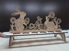 Laser Cut Easter Bunny Stand Free Vector