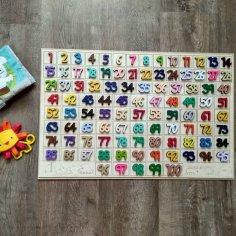 Laser Cut Math Hundred Board Game Sorter For Kids DXF File