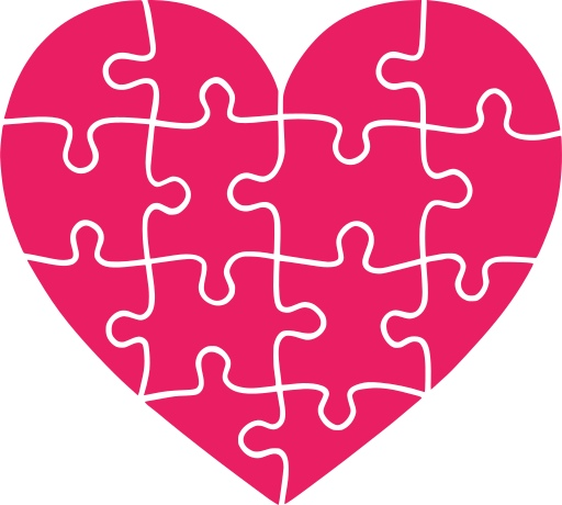 Laser Cut Valentines Day Heart Shaped Jigsaw Puzzle SVG File