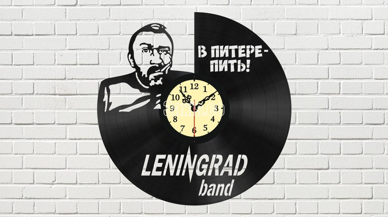 Laser Cut Leningrad Band Vinyl Record Wall Clock Free Vector