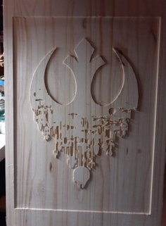 CNC Router Laser Cut Star Wars Rebel Sign DXF File