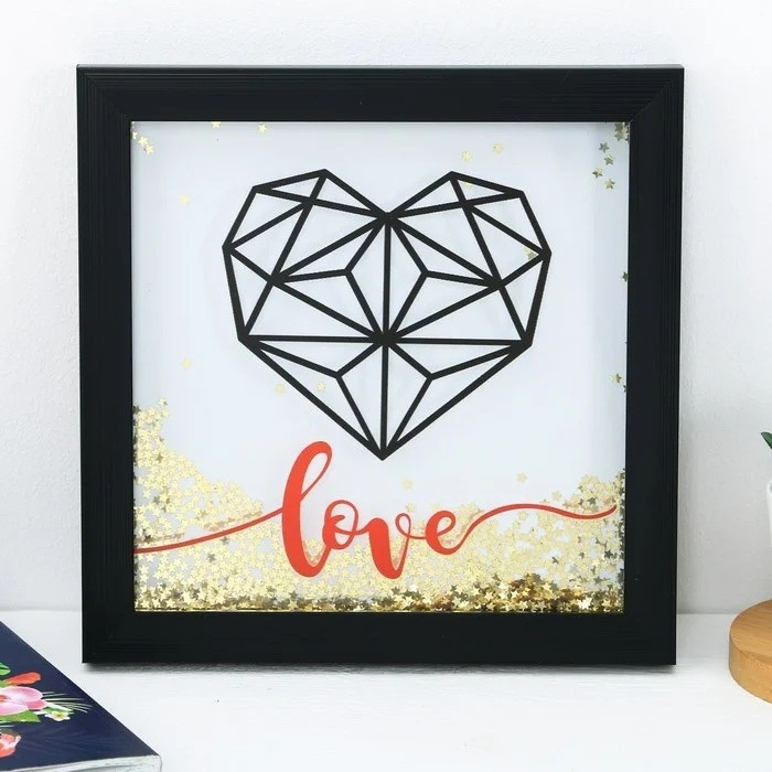 Valentine Day Gift Heart Wall Art Laser Cut CNC Template Free Vector
