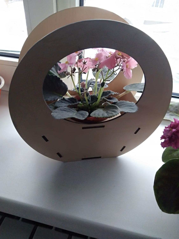 Laser Cut Flower Wood Decoration Planter Template Free Vector