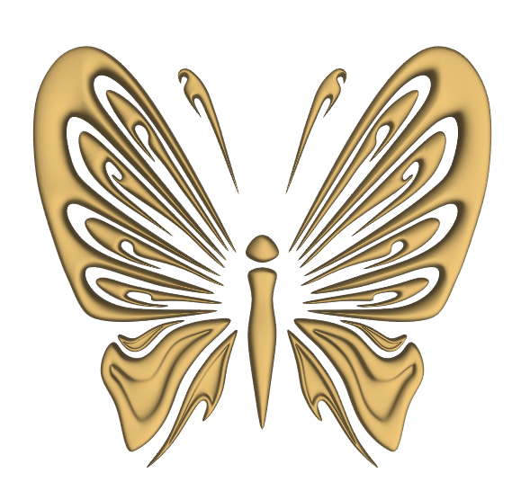 Butterfly Wood Carving 3D Wood Art stl File