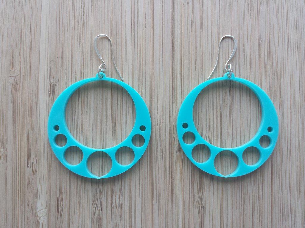 Laser Cut Acrylic Earrings Template DXF File