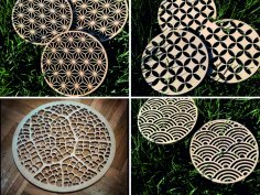 Laser Cut Decorative Coasters Free Vector