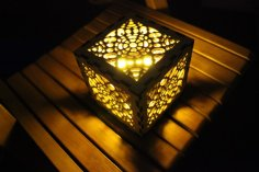 Laser Cut Honeycomb Lampshade Template DR File