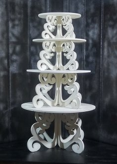 Laser Cut Cupcake And Dessert Stands DXF File