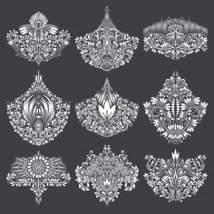 Gorgeous Ornamental Elements Free Vector