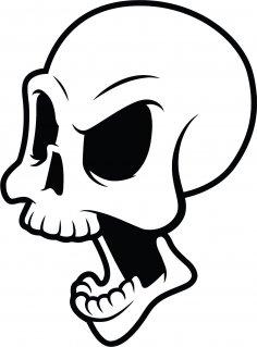 Die Epic Skull Grande Free Vector