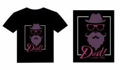 T- Shirt Dad Love Design Free Vector