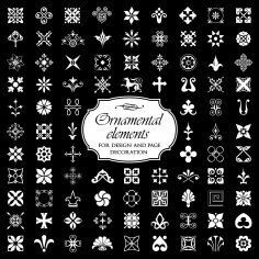 Ornamental Elements Free Vector