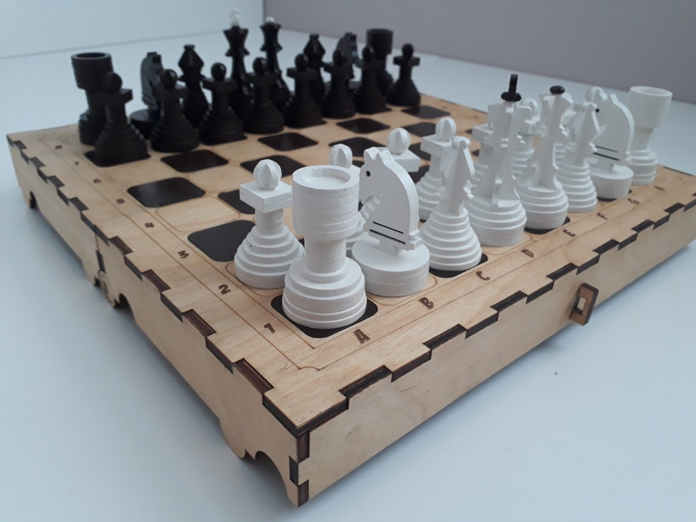 Laser Cut Chess Set DXF File