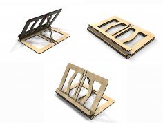 Laser Cut Folding Book Stand 4mm Free Vector