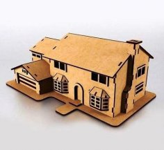 Laser Cut Wooden Simpsons House Model Free Vector