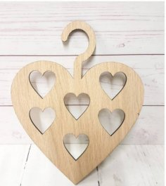 Laser Cut Heart Shaped Hanger Free Vector
