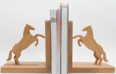 Laser Cut Horse Bookends DXF File