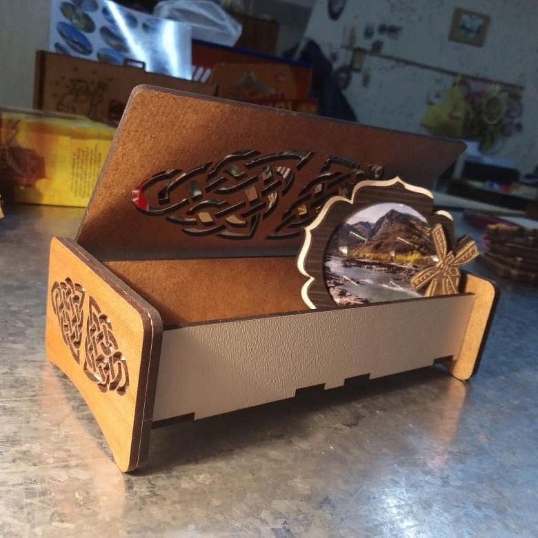 Laser Cut Decorative Gift Box HDF 3mm 160x60x30mm Free Vector