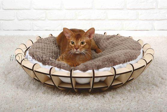 Laser Cut Wooden Cat Bed Cat Furniture Pet Furniture Free Vector