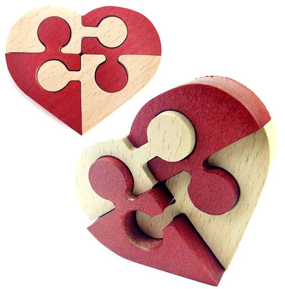 Laser Cut Heart Puzzle Free Vector