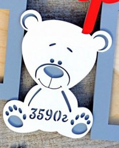 Laser Cut Teddy Bear Metric Free Vector