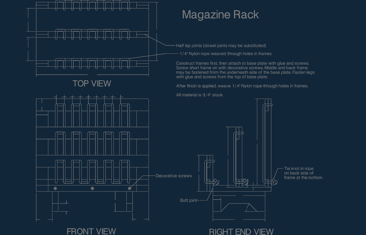 Magazine Rack dxf file