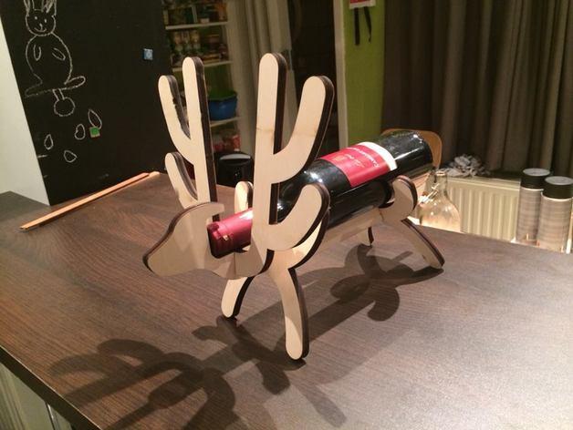 Reindeer Wine Stand Laser Cut SVG File