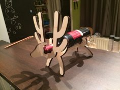 Reindeer Wine Stand Laser Cut SVG File