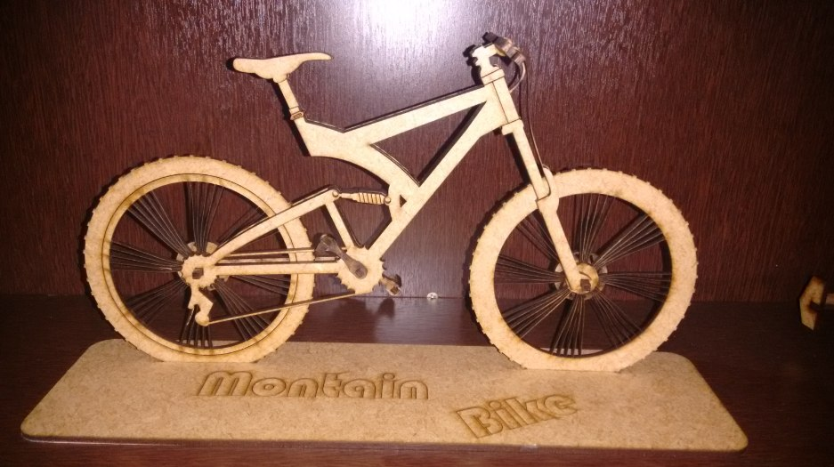 Montain Bike DXF File