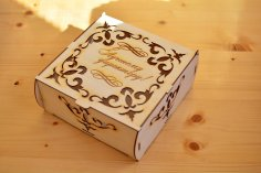 Laser Cut Decor Box Free Vector