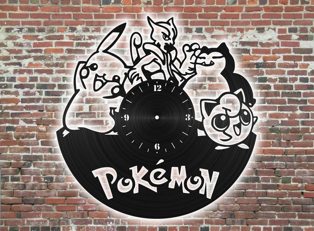 Laser Cut Pokemon Clock Free Vector