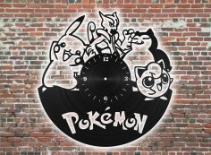 Laser Cut Pokemon Clock Free Vector