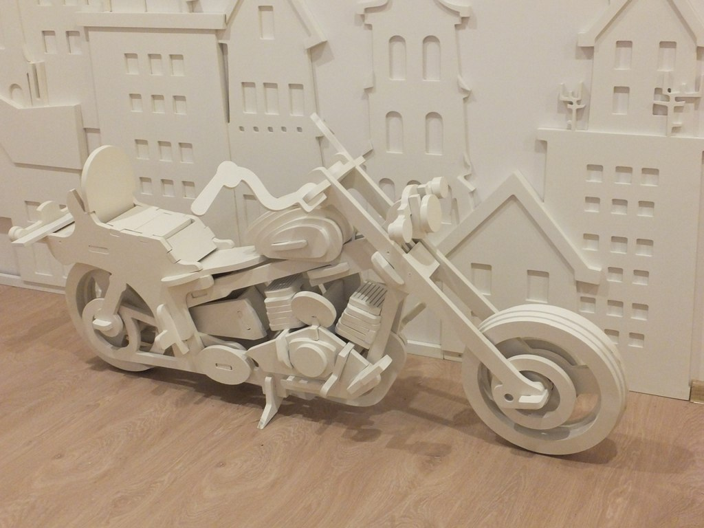 Laser Cut Motorcycle HD1 5mm DXF File