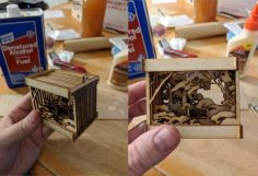 Laser Cut Miniaturized Landscape Free Vector