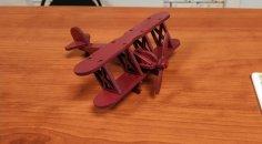 Laser Cut Bi Plane Free Vector