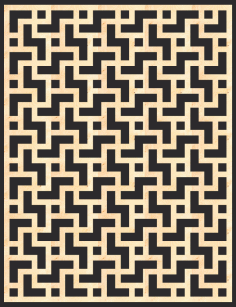 MDF Decorative Screening Panel Pattern Free Vector