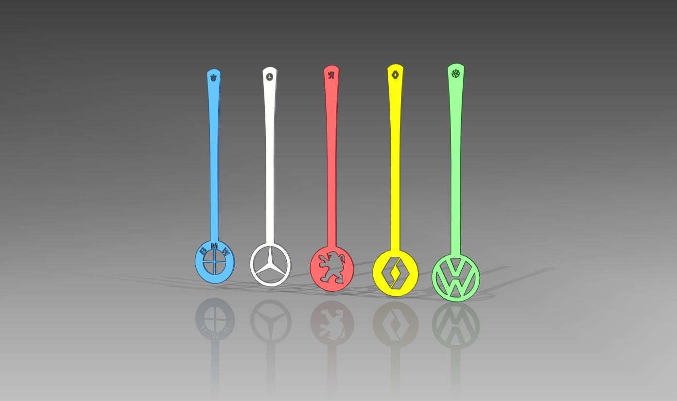 Car Logo Spoon Set DXF File