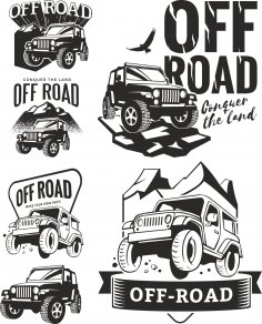 Off Road Decals Free Vector