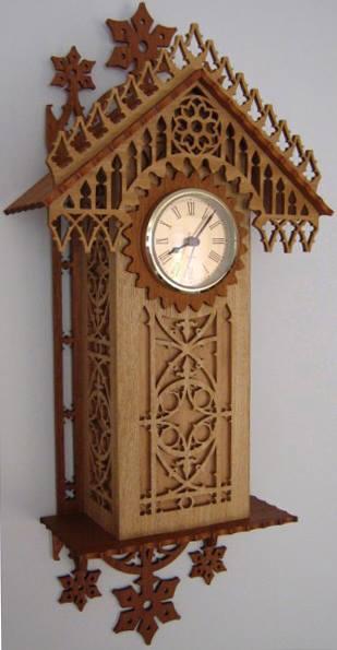 Laser Cut Wooden Antique Wall Clock Template Free Vector