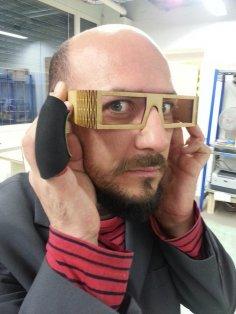Laser Cut Bend Glasses DXF File