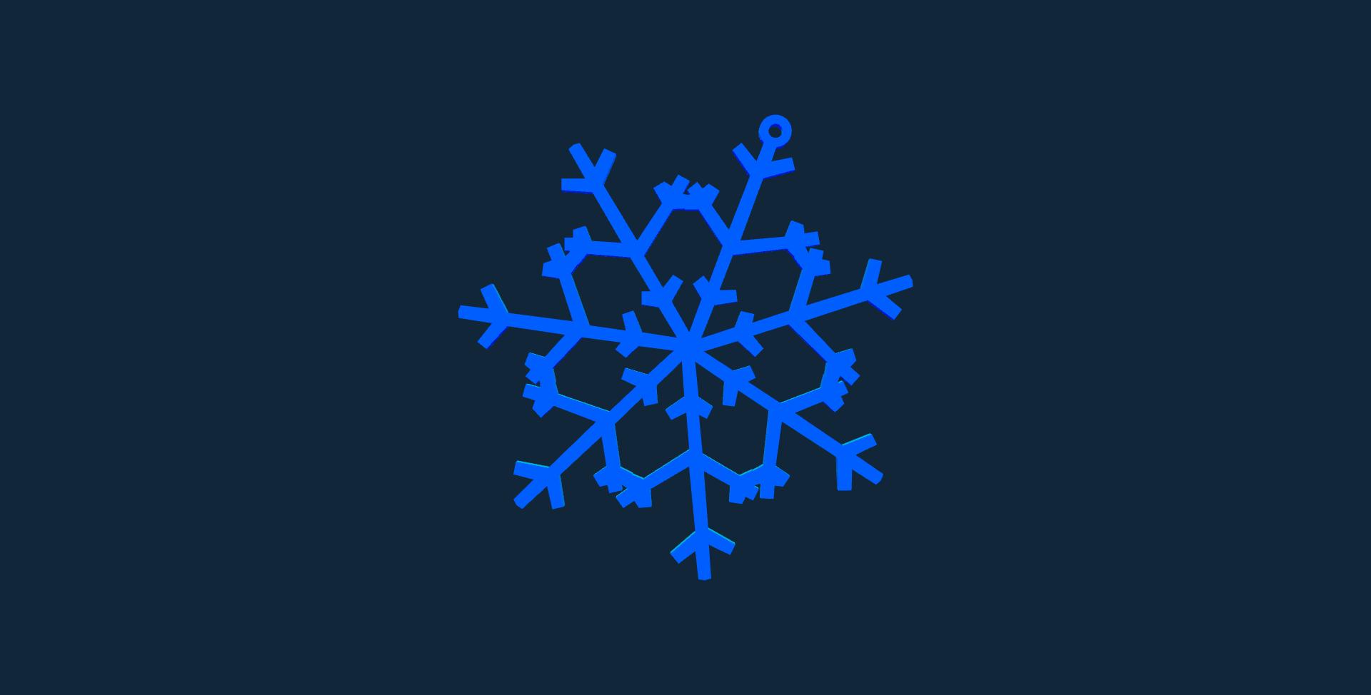 Snowflake design 1 stl file