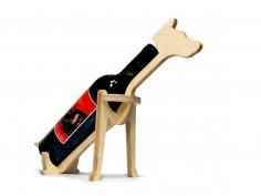 Laser Cut Dog Shape Animal Wine Bottle Holder Free Vector