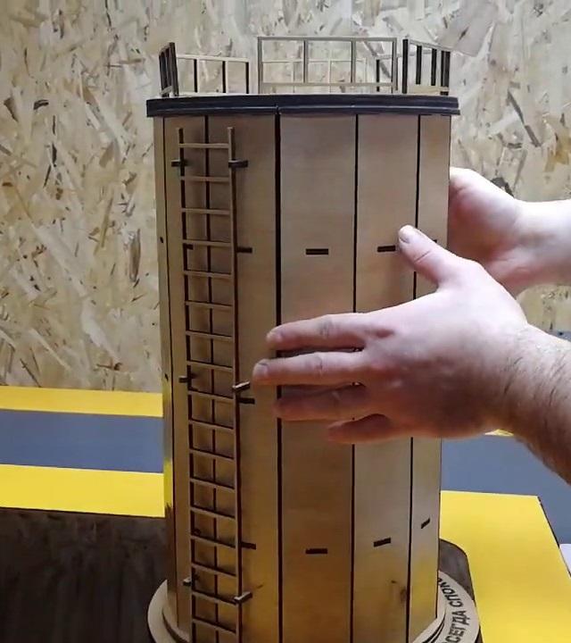 Laser Cut Barrel Mini Bar Free Vector