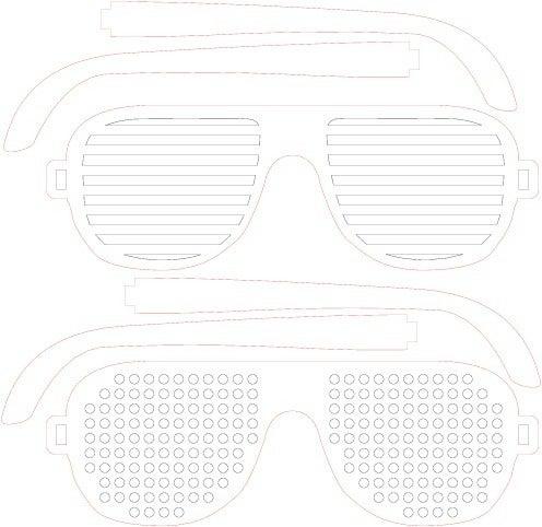 Laser Cut Wooden Shutter Shades Diy Glasses Free Vector