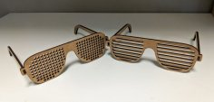 Laser Cut Wooden Shutter Shades Diy Glasses Free Vector