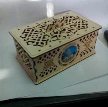 Laser Cut Decorative Plywood Jewelry Box Free Vector