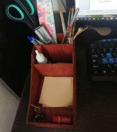 Laser Cut Home Office Supply Desktop Storage Rack DXF File