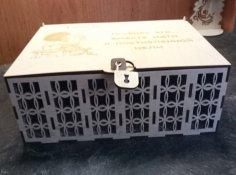 Laser Cut Wooden Savings Bank Money Box Free Vector
